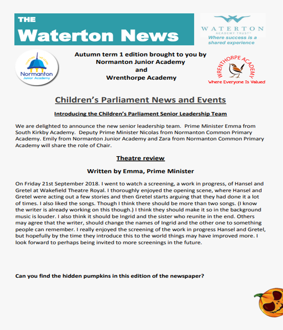 Waterton News - Normanton Junior Academy and Wrenthorpe Academy Issue 9