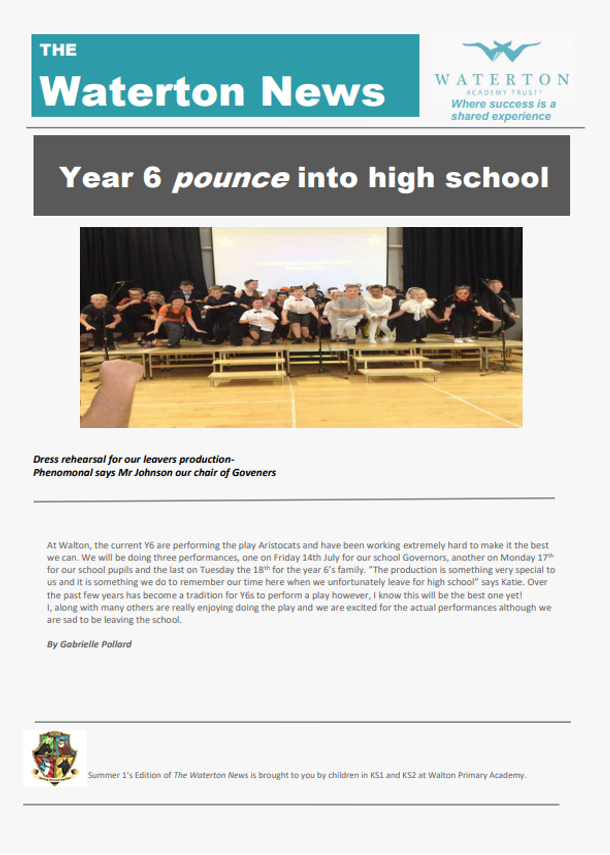 Waterton News - Walton Primary Academy Issue 2