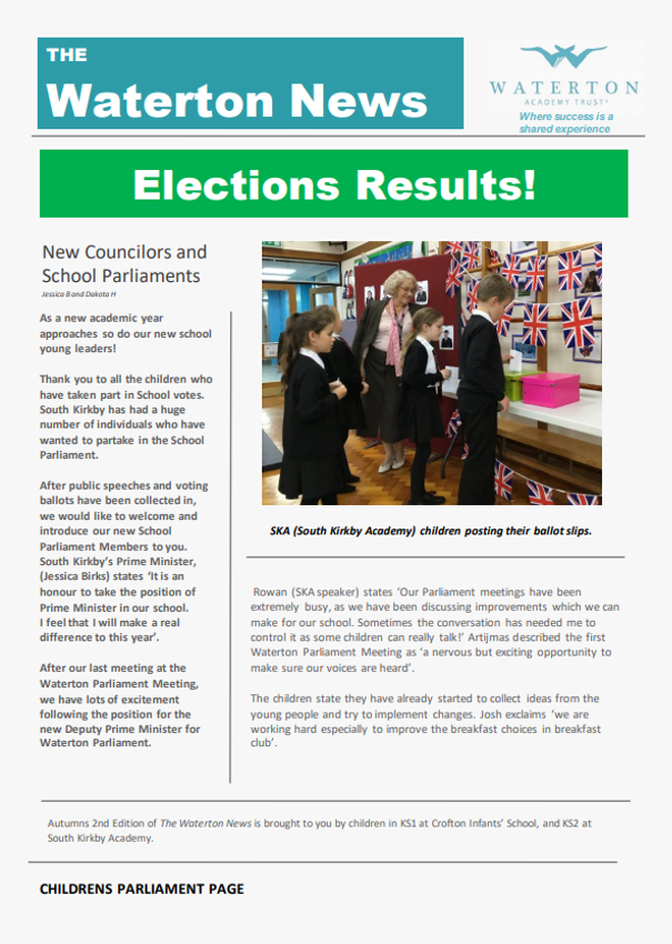 Waterton News - Crofton Infants' School and South Kirkby Academy Issue 3