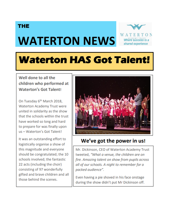 Waterton News - Cherry Tree Academy and Ackworth Mill Dam Issue 6
