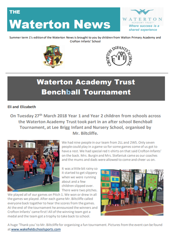 Waterton News - Crofton Infants' School and Walton Primary Academy Issue 7