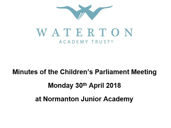 Parliament Meeting April 2018 Minutes