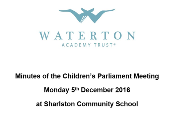 Parliament Meeting December 2016 Minutes