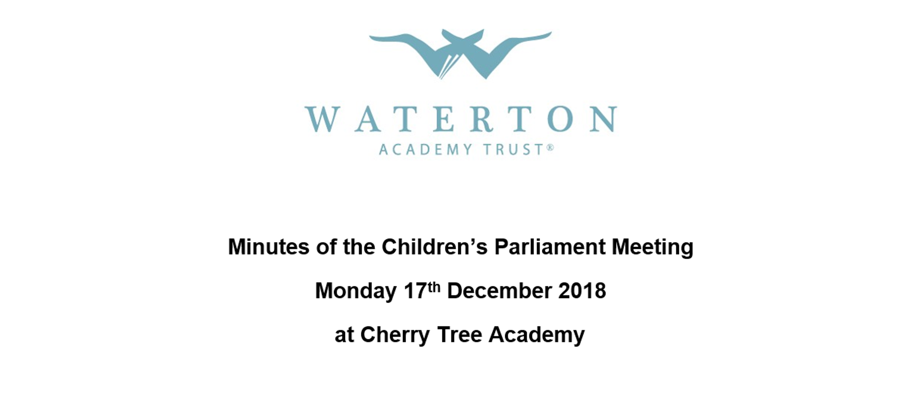 Parliament Meeting December 2018 Minutes