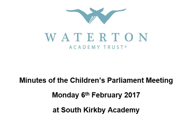 Parliament Meeting February 2017 Minutes