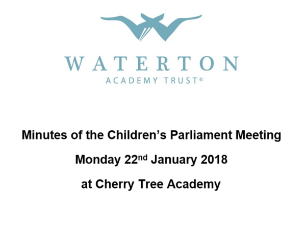 Parliament Meeting January 2018 Minutes