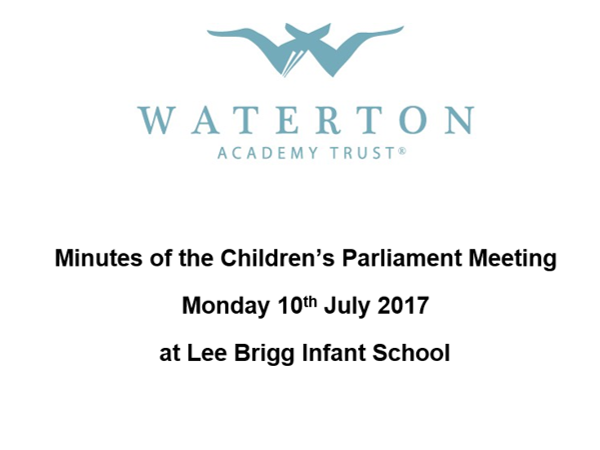 Parliament Meeting July 2017 Minutes