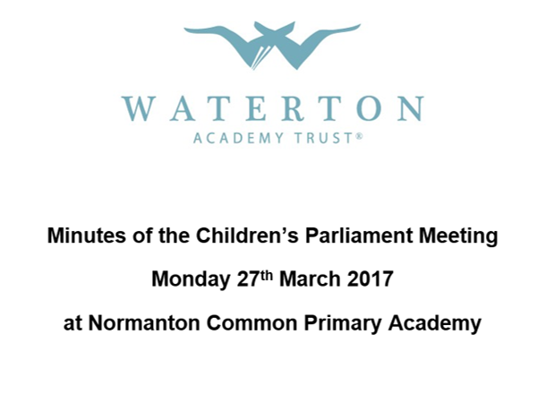 Parliament Meeting March 2017 Minutes