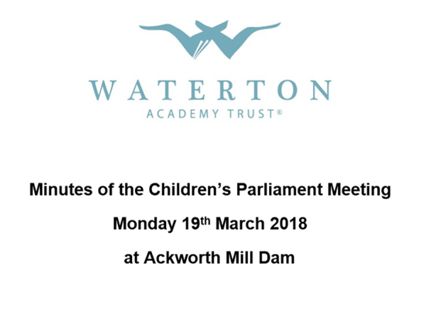 Parliament Meeting March 2018 Minutes