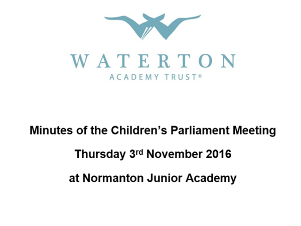 Parliament Meeting November 2016 Minutes