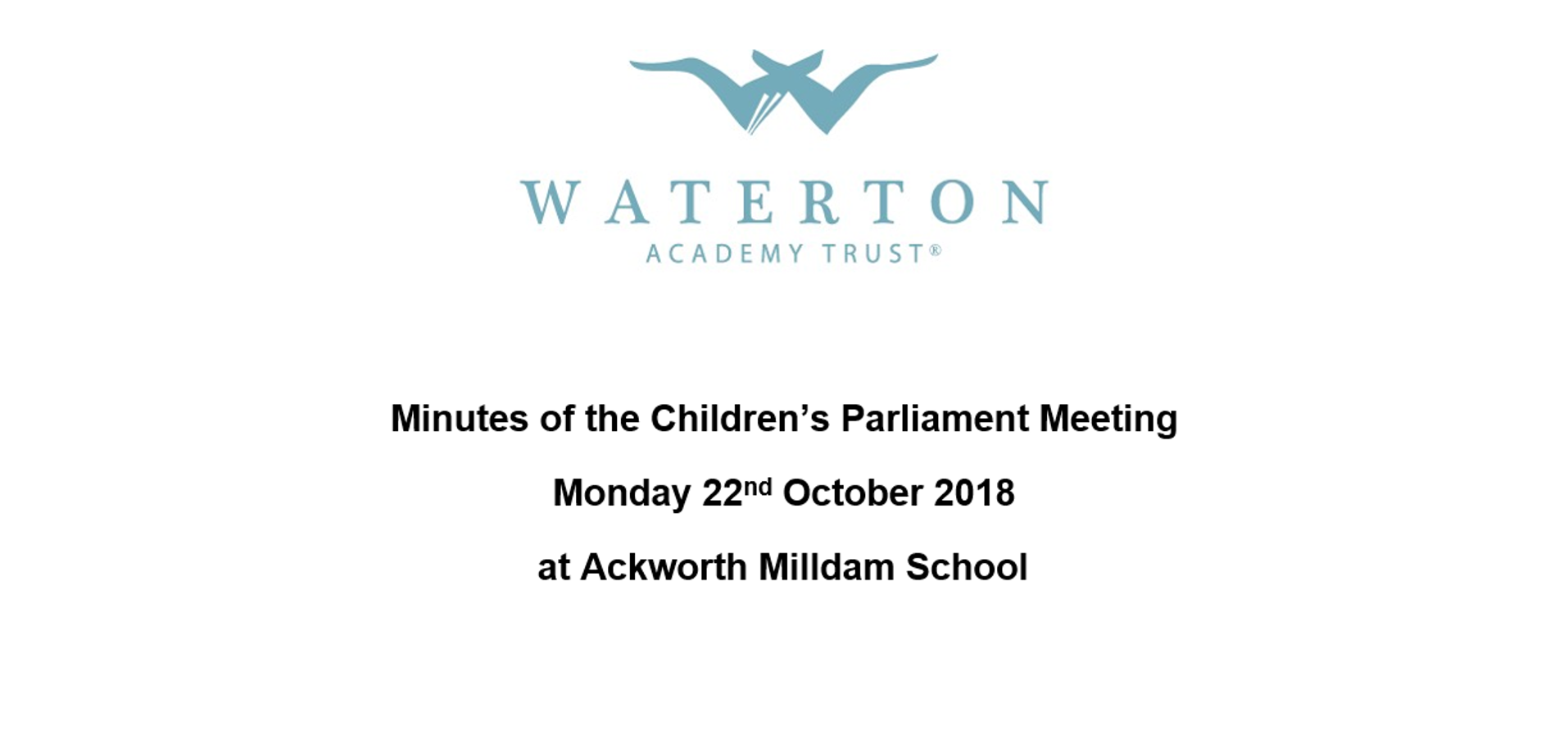 Parliament Meeting October 2018 Minutes